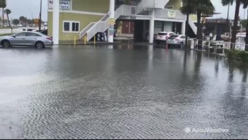 Heavy rains flood streets
