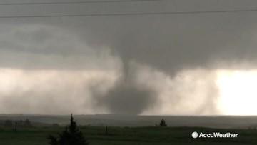 Scenes from the chase: Large tornado forms in Nebraska