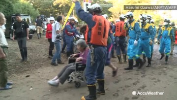 Emergency services work tirelessly to evacuate flooded elderly home