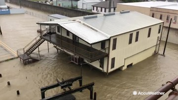 Atchafalaya River substantially swollen by Barry's flooding