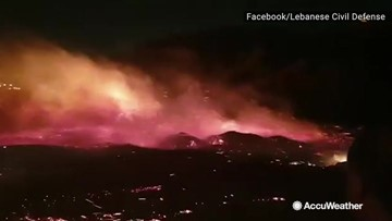 18 Injured as fierce wildfires scorch through Lebanon