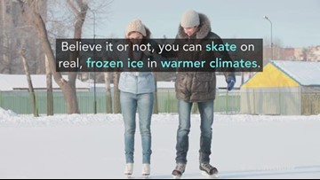 Yes, you can skate on real, frozen ice in warmer climates
