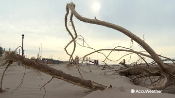 Multiple storms wreaking havoc on these beaches
