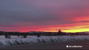 Beautiful sunrise fills sky after damaging California storm