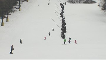 Skiers hit the slopes in anticipation for winter storm