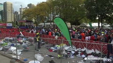 The race to clean up after the marathon: Laura Velasquez reports from Chicago