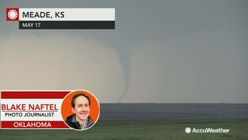 Storm chaser Blake Naftel shares storm conditions and tornado video