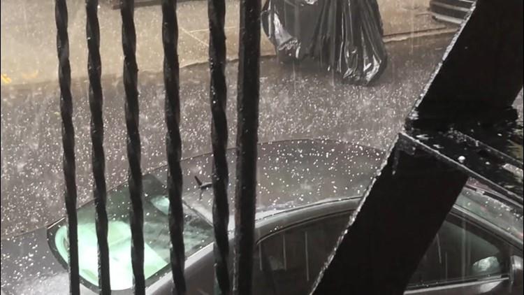 Hail, rain and snow: Oh my!