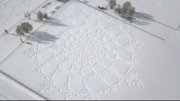 Elsa Would Approve! Artist Walks More Than 50 Miles in the Snow to Create His 'Drawings'
