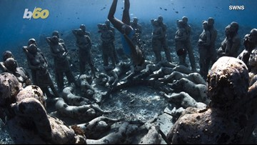 Incredible Photos Show Underwater Statues Created for Artificial Reef