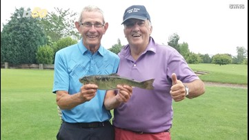 Retirees Skip Fishing to Go Golfing, Trout Falls From the Sky as They Tee Off