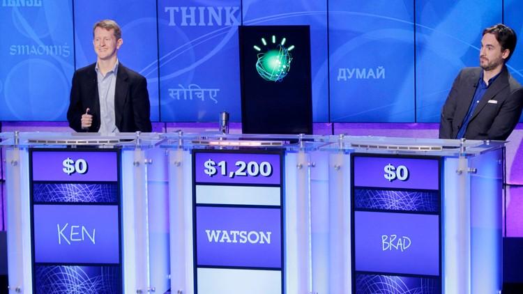 Ken Jennings Watson and Brad Rutter Jeopardy