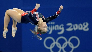 Here's how Shawn Johnson, 40 weeks pregnant, looks in her Olympics leotard