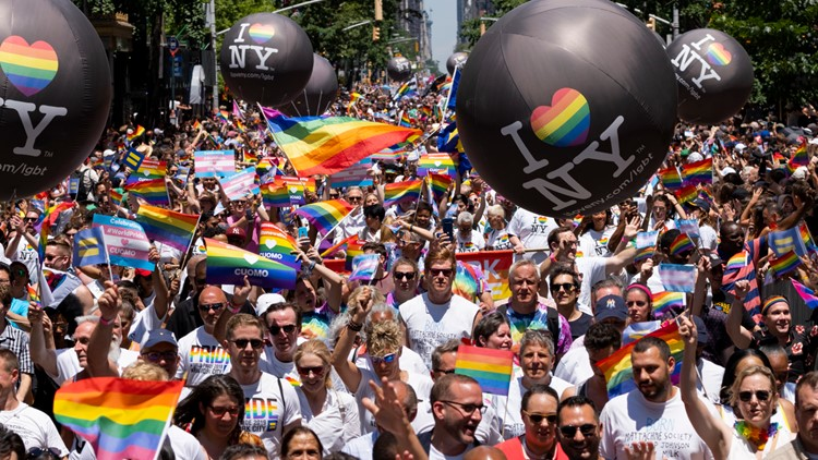 New York pride parade one of largest in movement's history