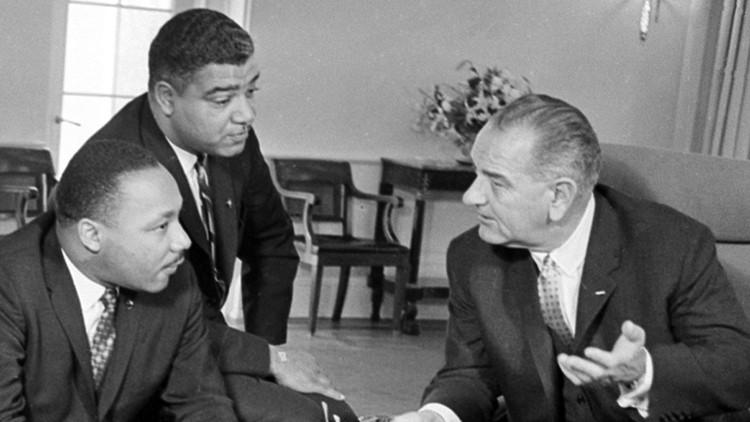 Lyndon Johnson MLK Martin Luther King
