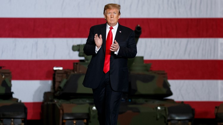 Trump Ohio Tank plant Lima AP