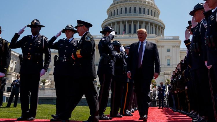 Trump Fallen officer memorial service