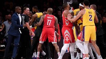 NBA suspends Rajon Rondo, Chris Paul and Brandon Ingram for Lakers-Rockets brawl