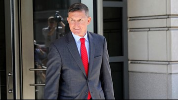Flynn arrives at courthouse for sentencing with 'Good luck' wish from Trump