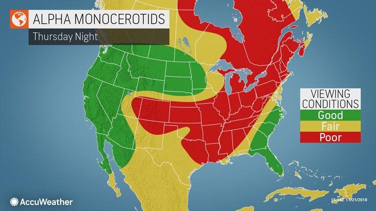 AccuWeather Alpha Monocerotids meteors