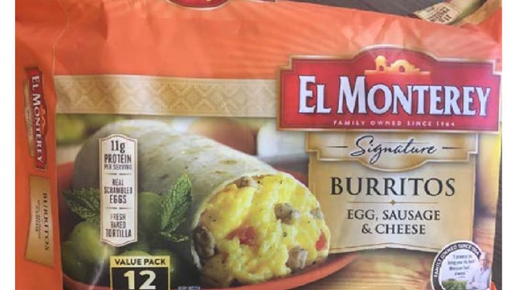 27 tons of frozen breakfast burritos recalled for plastic contamination