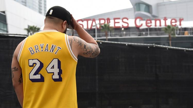 Kobe Bryant Grammys outside AP