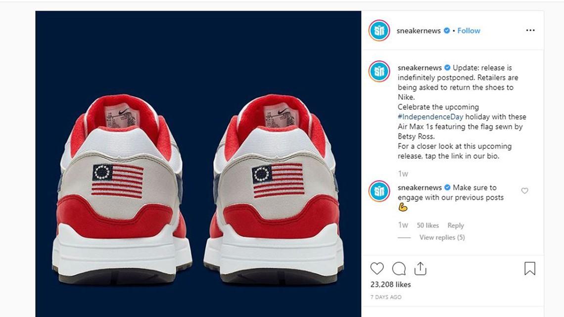 Nike yanks Betsy Ross American flag