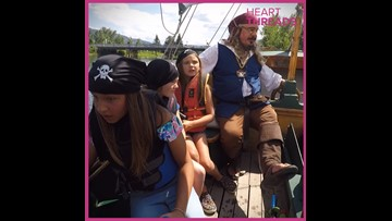 Pirate captain gives boat rides to kids with special needs