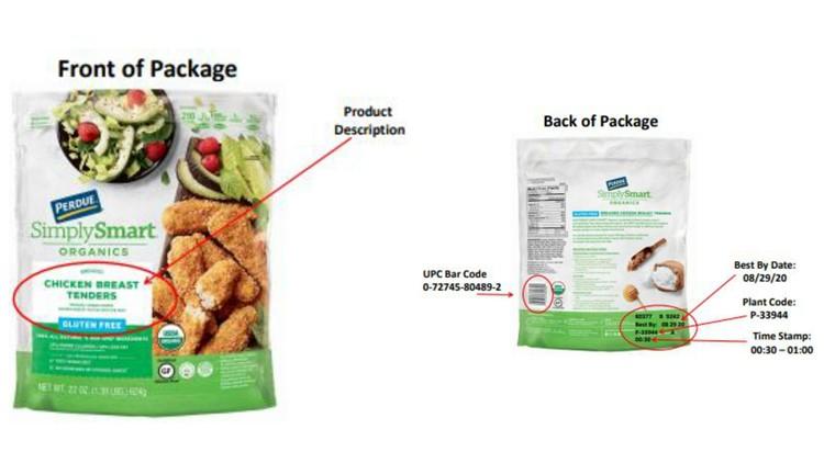 Simply Smart Organics chicken breast tenders recall