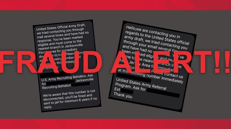 US Army fraud alert texts