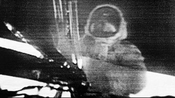 Armstrong's famous 'One small step' included something most people didn't hear