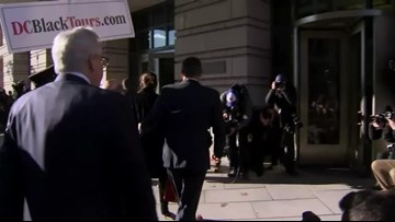 Michael Flynn arrives for sentencing hearing
