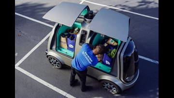 Kroger launches Nuro unmanned vehicles to delivery groceries to customers in Arizona