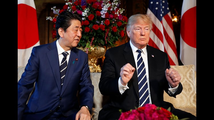 AP APTOPIX TRUMP US JAPAN A USA FL