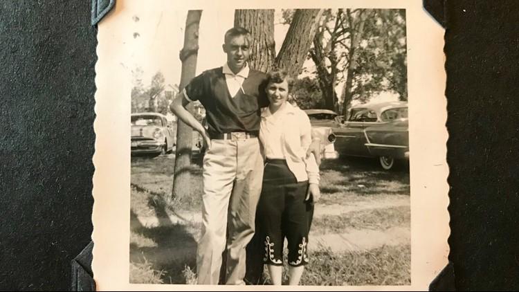 Gene Ertel and Janet Skillingstad as teenagers