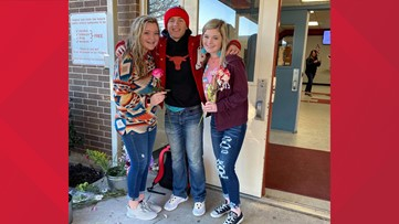'What a precious heart he has' | Student gives every girl a flower on Valentine's Day