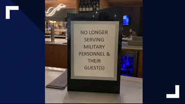Employees of major hotel chain fired for sign denying service to military guests