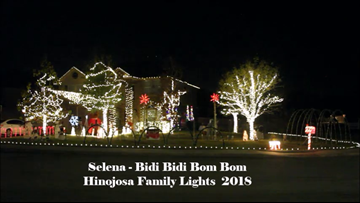 Family sets Christmas lights to 'Baby shark' song, other hits