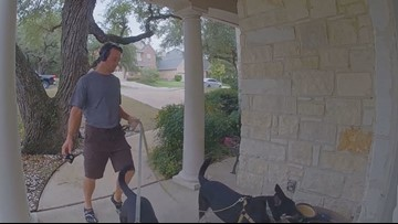 A Texas man bought a home video camera to catch criminals. But now he's hoping to catch a good neighbor.