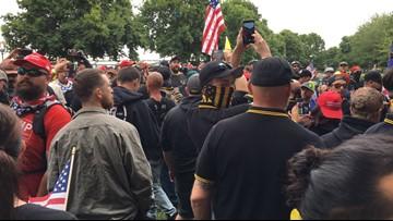 Timeline: 13 arrested during dueling demonstrations in Portland on Aug. 17