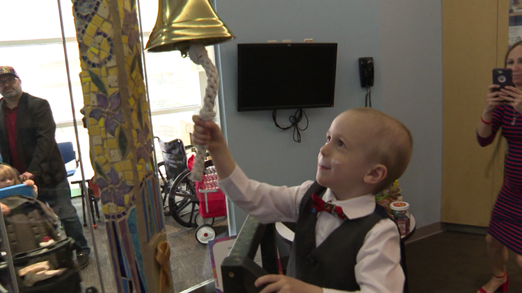 4-year-old celebrates after surviving rare form of cancer