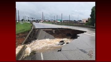 Sinkhole opens up in Rosenberg after Harvey flooding