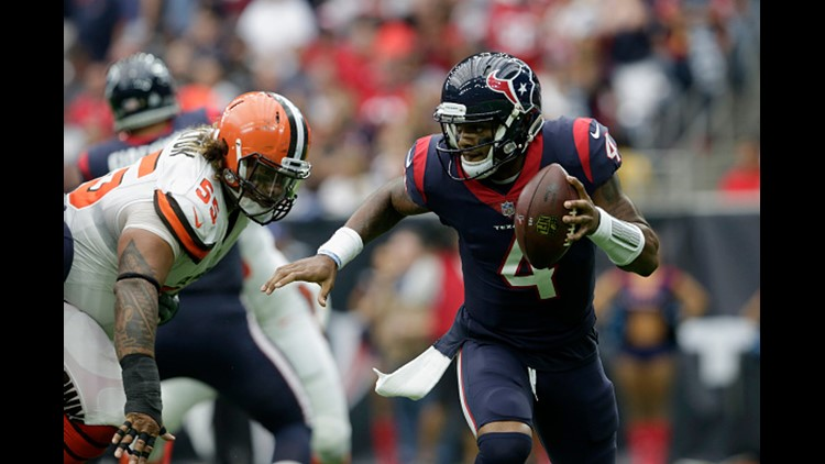 The Houston Texans are holding out hope that their high-flying offense hasn't taken a devastating hit. The team fears that rookie quarterback Deshaun Watson suffered a torn anterior cruciate ligament at practice Thursday, the Texans confirmed.