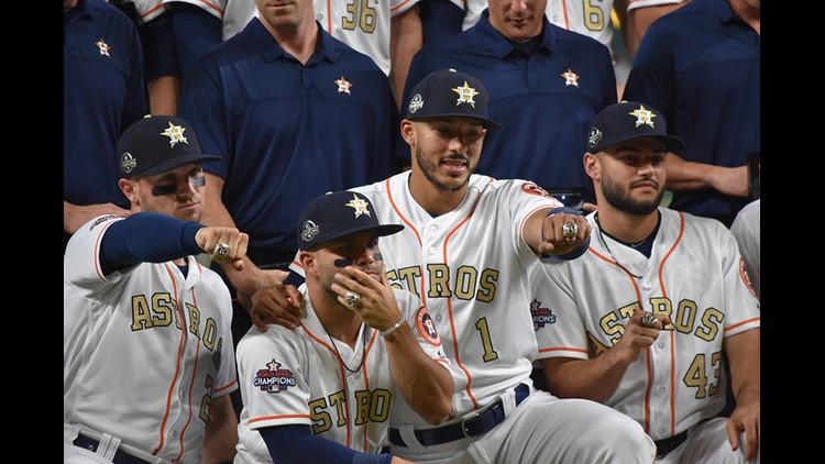 PHOTOS: Astros World Series Ring Ceremony #EarnedHistory