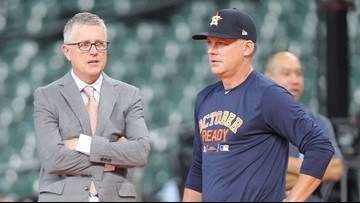 Houston Astros' Luhnow, Hinch suspended for a year as MLB announces punishment for sign-stealing