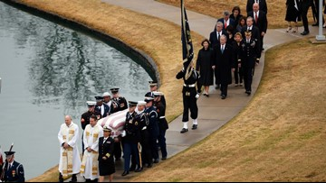 President George H.W. Bush 'has reached his final resting place'
