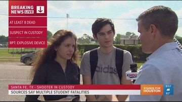 'People were crying and screaming everywhere,' Santa Fe High School student says
