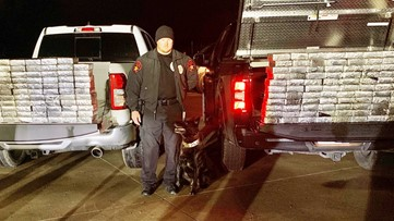 K-9 Officer Stryker sniffs out $1.2M in meth, a record drug bust in Texas