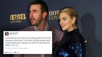 Kate Upton fires back at critics, 'dumb misogynist comments'