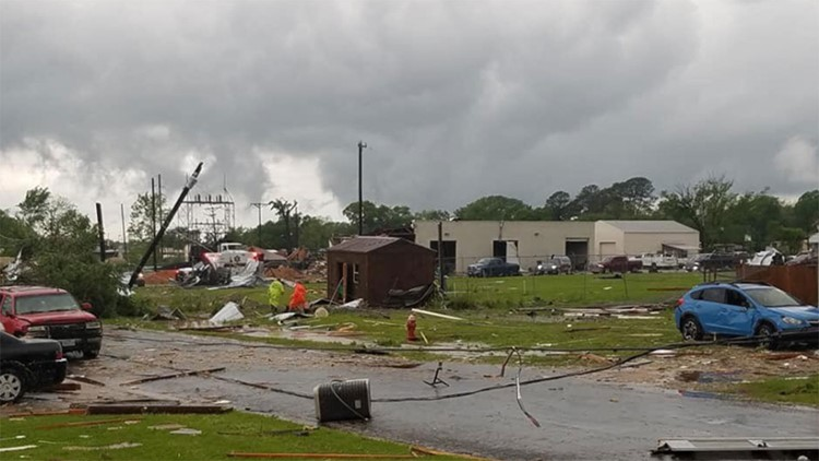 Franklin Tornado damage